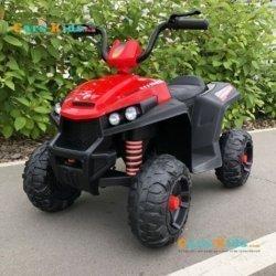 Электроквадроцикл T111TT красный (колеса резина, сиденье кожа, музыка, свет)