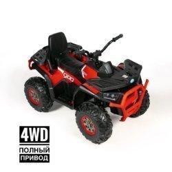 Электроквадроцикл XMX607 Т007МР 4WD красный (полный привод, колеса резина, кресло кожа, музыка)